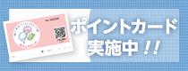 ポイントカード実施中!!